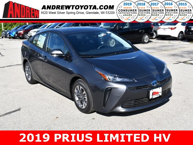 Stock #: 38645 Gray 2019 Toyota Prius Limited 5D Hatchback in Milwaukee, Wisconsin 53209