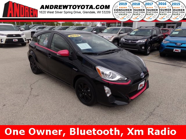 Stock 37754a Black 2016 Toyota Prius C One 5d Hatchback In Milwaukee Wisconsin