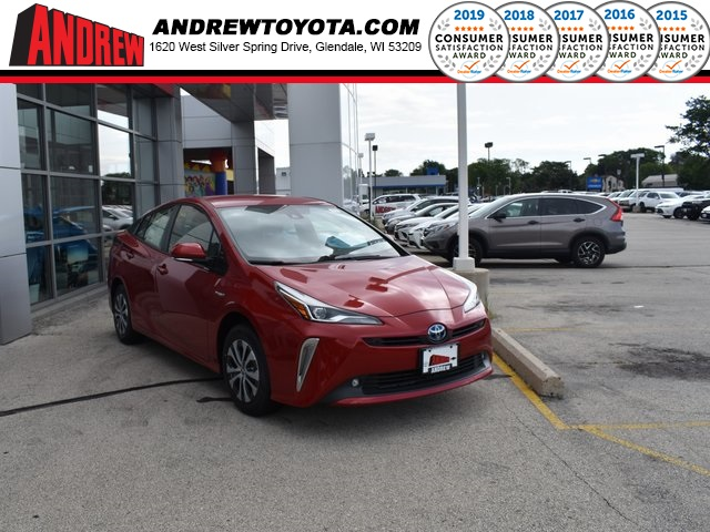 Stock #: 38273 Supersonic Red[extra_cost_color] 2019 Toyota Prius XLE AWD-e 5D Hatchback in Milwaukee, Wisconsin 53209