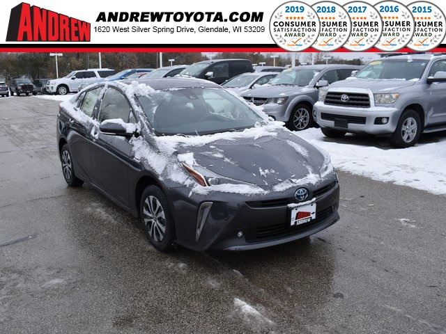 Stock #: 38822 Gray 2020 Toyota Prius LE AWD-e 5D Hatchback in Milwaukee, Wisconsin 53209