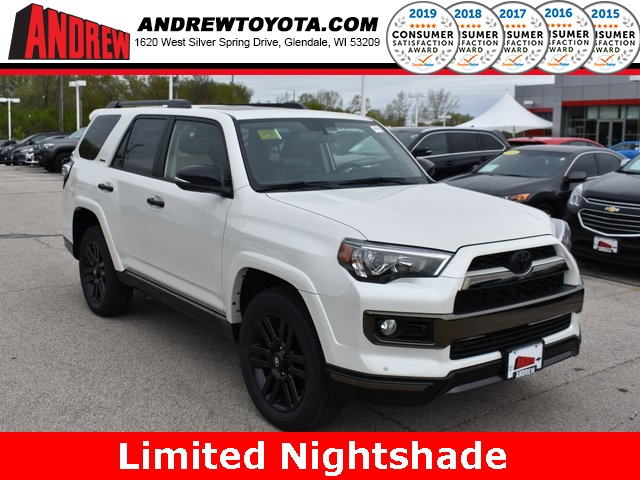 Stock #: 38018 White 2019 Toyota 4Runner Limited Nightshade 4D Sport Utility in Milwaukee, Wisconsin 53209