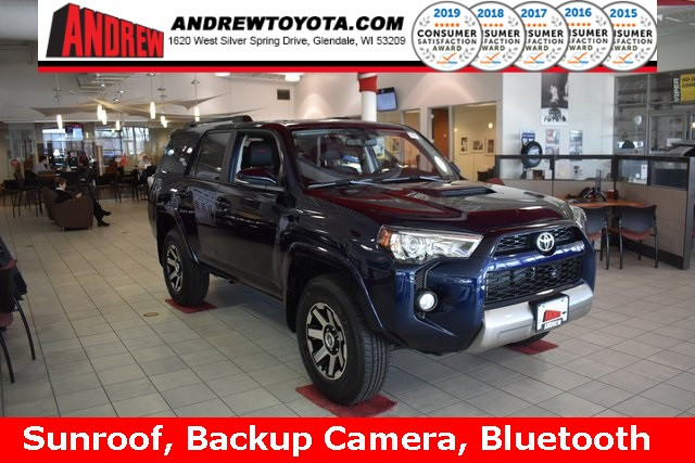 Stock #: 37724 Blue 2019 Toyota 4Runner TRD Off-Road Premium 4D Sport Utility in Milwaukee, Wisconsin 53209