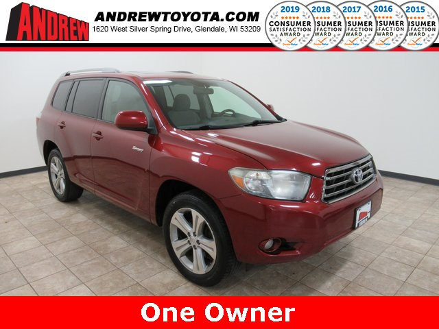 Stock #: TP1179 Red 2008 Toyota Highlander Sport 4D Sport Utility in Milwaukee, Wisconsin 53209