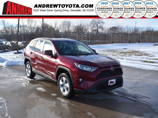 Stock #: 39042 Ruby Flare Pearl [extra_cost_color] 2020 Toyota RAV4 XLE 4D Sport Utility in Milwaukee, Wisconsin 53209