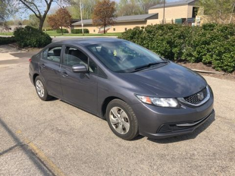 Stock #: TP9729A Gray 2014 Honda Civic LX 4D Sedan in Milwaukee, Wisconsin 53209