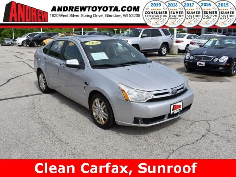 Stock #: 37835A Silver 2009 Ford Focus SEL 4D Sedan in Milwaukee, Wisconsin 53209