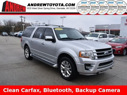 Stock #: 38582C Silver 2017 Ford Expedition EL Limited 4D Sport Utility in Milwaukee, Wisconsin 53209