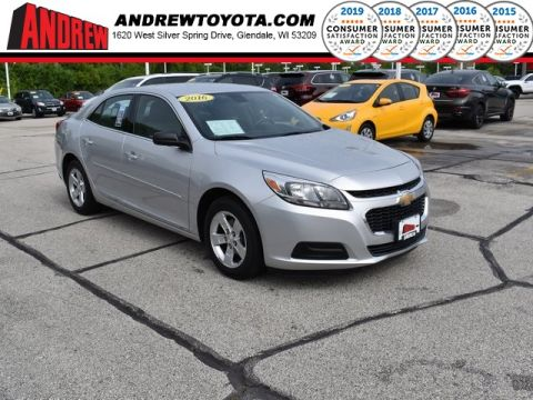 Stock #: 37590A Silver 2016 Chevrolet Malibu Limited 1FL 4D Sedan in Milwaukee, Wisconsin 53209