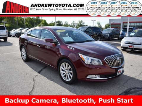 Stock #: 37985A Red 2016 Buick LaCrosse Leather Group 4D Sedan in Milwaukee, Wisconsin 53209