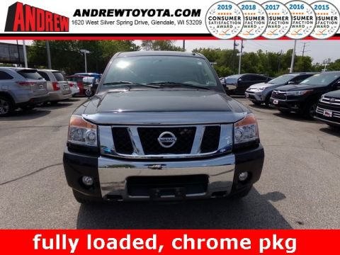 Stock #: 37367B Black 2013 Nissan Titan SL 4D Crew Cab in Milwaukee, Wisconsin 53209
