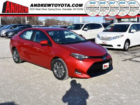 Stock #: 37535 Red 2019 Toyota Corolla XLE 4D Sedan in Milwaukee, Wisconsin 53209