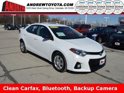 Stock #: 37683A White 2015 Toyota Corolla S 4D Sedan in Milwaukee, Wisconsin 53209