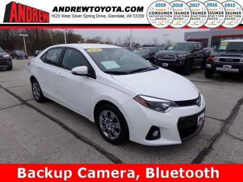 Stock #: TP9821 White 2016 Toyota Corolla S 4D Sedan in Milwaukee, Wisconsin 53209