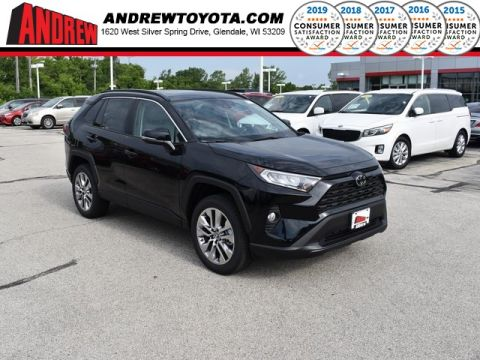 Stock #: 38233 Black 2019 Toyota RAV4 XLE Premium 4D Sport Utility in Milwaukee, Wisconsin 53209