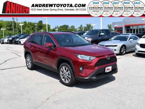 Stock #: 38242 Red 2019 Toyota RAV4 XLE Premium 4D Sport Utility in Milwaukee, Wisconsin 53209