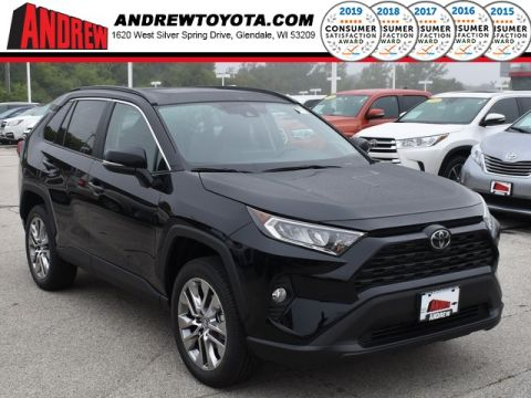 Stock #: 38630 Midnight Black Metallic 2019 Toyota RAV4 XLE Premium 4D Sport Utility in Milwaukee, Wisconsin 53209
