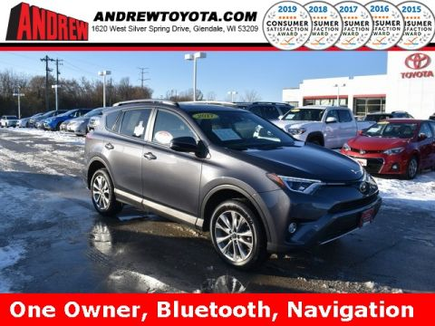 Stock #: 38857A MAGNETIC GRAY MET. 2017 Toyota RAV4 Limited 4D Sport Utility in Milwaukee, Wisconsin 53209