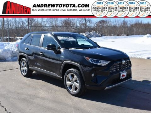 Stock #: 39199 Midnight Black Metallic 2020 Toyota RAV4 Hybrid Limited 4D Sport Utility in Milwaukee, Wisconsin 53209