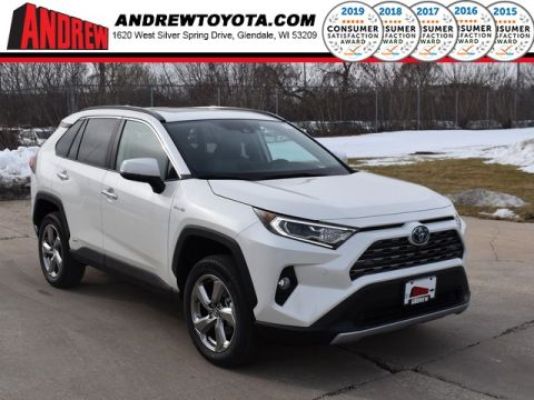 Stock #: 39163 Blizzard Pearl [extra_cost_color] 2020 Toyota RAV4 Hybrid Limited 4D Sport Utility in Milwaukee, Wisconsin 53209