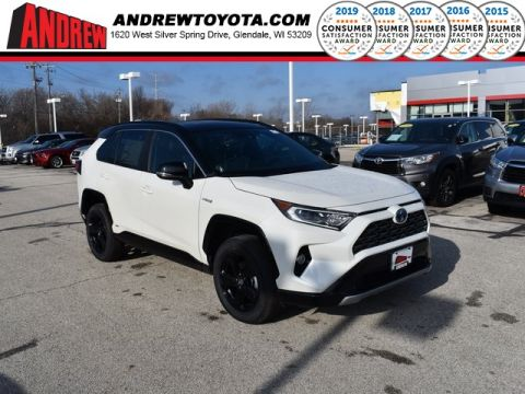 Stock #: 38998 Blizzard Pearl / Midnight Black Metallic [extra_cost_color] 2020 Toyota RAV4 Hybrid XSE 4D Sport Utility in Milwaukee, Wisconsin 53209