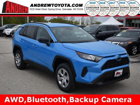 Stock #: 38007 Blue 2019 Toyota RAV4 LE 4D Sport Utility in Milwaukee, Wisconsin 53209