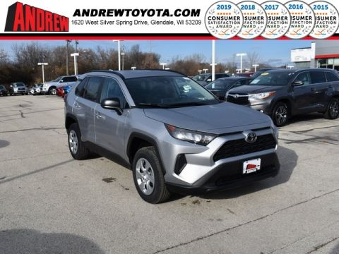 Stock #: 38896 Silver Sky Metallic 2020 Toyota RAV4 LE 4D Sport Utility in Milwaukee, Wisconsin 53209