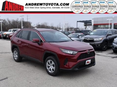Stock #: 38989 Ruby Flare Pearl [extra_cost_color] 2020 Toyota RAV4 LE 4D Sport Utility in Milwaukee, Wisconsin 53209