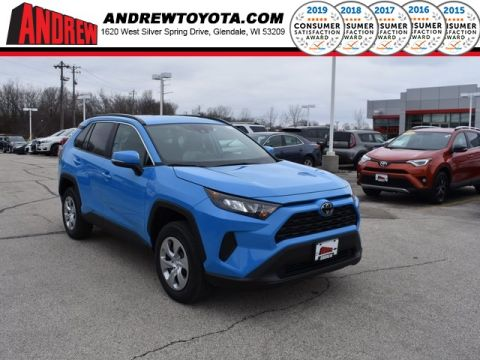 Stock #: 37756 Blue 2019 Toyota RAV4 LE 4D Sport Utility in Milwaukee, Wisconsin 53209