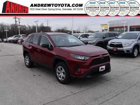 Stock #: 38924 Ruby Flare Pearl [extra_cost_color] 2020 Toyota RAV4 LE 4D Sport Utility in Milwaukee, Wisconsin 53209