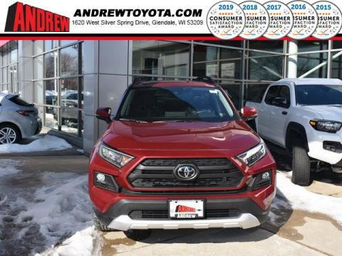 Stock #: 37581 Red 2019 Toyota RAV4 Adventure 4D Sport Utility in Milwaukee, Wisconsin 53209