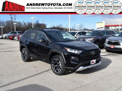 Stock #: 39021 Midnight Black Metallic 2020 Toyota RAV4 Adventure 4D Sport Utility in Milwaukee, Wisconsin 53209