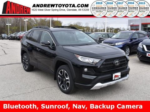 Stock #: 37893 Midnight Black Metallic 2019 Toyota RAV4 Adventure 4D Sport Utility in Milwaukee, Wisconsin 53209