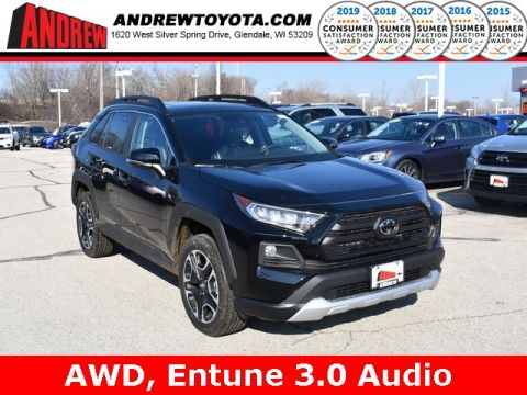 Stock #: 37674 Black 2019 Toyota RAV4 Adventure 4D Sport Utility in Milwaukee, Wisconsin 53209