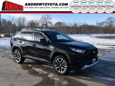Stock #: 39036 Midnight Black Metallic 2020 Toyota RAV4 Adventure 4D Sport Utility in Milwaukee, Wisconsin 53209