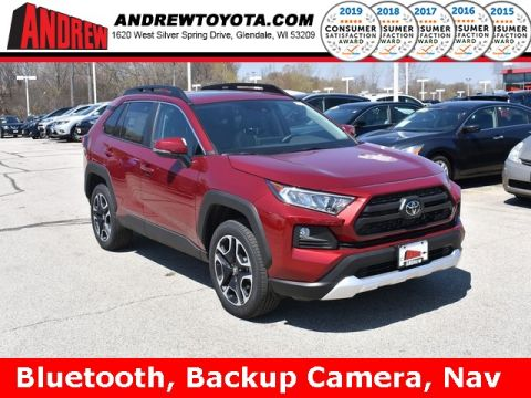 Stock #: 37776 Red 2019 Toyota RAV4 Adventure 4D Sport Utility in Milwaukee, Wisconsin 53209