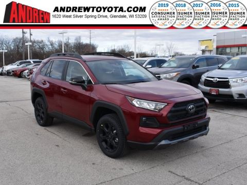 Stock #: 38990 Ruby Flare Pearl [extra_cost_color] 2020 Toyota RAV4 TRD Off Road 4D Sport Utility in Milwaukee, Wisconsin 53209