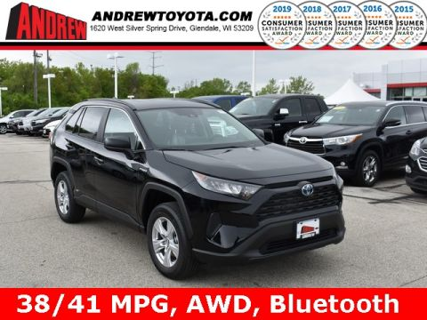 Stock #: 38031 Black 2019 Toyota RAV4 Hybrid LE 4D Sport Utility in Milwaukee, Wisconsin 53209
