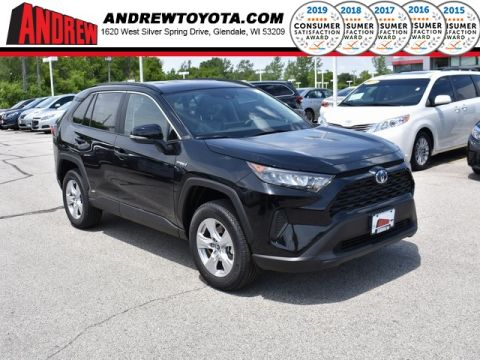 Stock #: 38111 Black 2019 Toyota RAV4 Hybrid LE 4D Sport Utility in Milwaukee, Wisconsin 53209