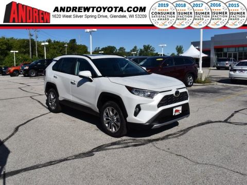 Stock #: 38492 Blizzard Pearl [extra_cost_color] 2019 Toyota RAV4 Limited 4D Sport Utility in Milwaukee, Wisconsin 53209