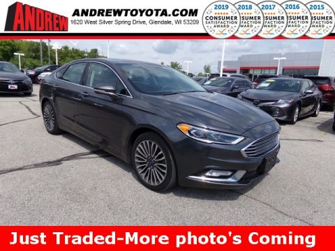 Stock #: TP9976A Gray 2017 Ford Fusion Titanium 4D Sedan in Milwaukee, Wisconsin 53209