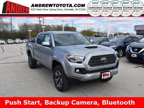Stock #: 37983 Silver 2019 Toyota Tacoma TRD Sport 4D Double Cab in Milwaukee, Wisconsin 53209