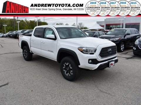 Stock #: 37966 White 2019 Toyota Tacoma TRD Offroad 4D Double Cab in Milwaukee, Wisconsin 53209