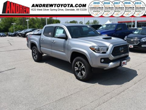 Stock #: 37981 Silver 2019 Toyota Tacoma TRD Sport 4D Double Cab in Milwaukee, Wisconsin 53209