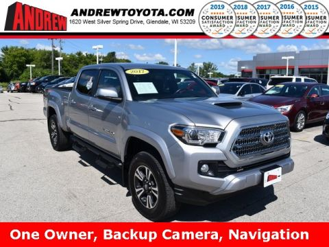 Stock #: 37889A Silver 2017 Toyota Tacoma TRD Sport 4D Double Cab in Milwaukee, Wisconsin 53209