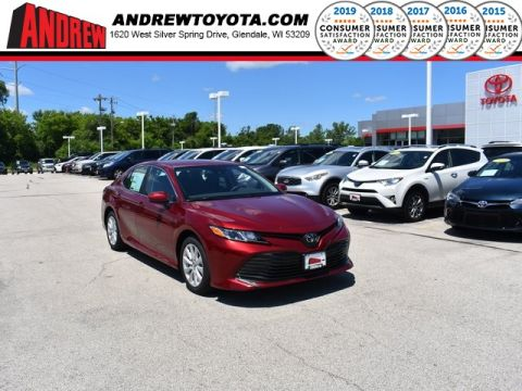 Stock #: 38216 Red 2019 Toyota Camry LE 4D Sedan in Milwaukee, Wisconsin 53209