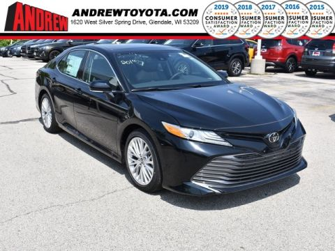 Stock #: 37495 Black 2019 Toyota Camry XLE 4D Sedan in Milwaukee, Wisconsin 53209