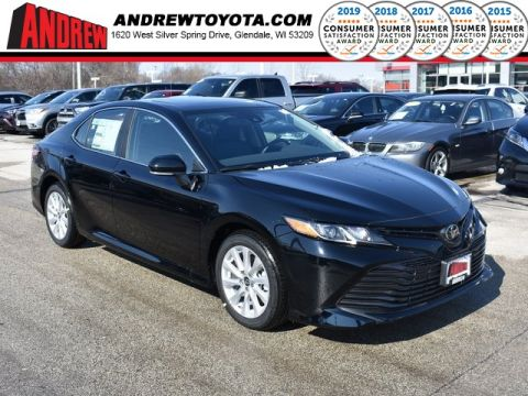 Stock #: 37548 Black 2019 Toyota Camry LE 4D Sedan in Milwaukee, Wisconsin 53209