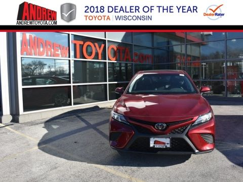 Stock #: 36717 Red 2018 Toyota Camry SE 4D Sedan in Milwaukee, Wisconsin 53209
