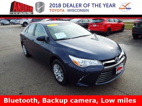 Stock #: 37011A Blue 2015 Toyota Camry LE 4D Sedan in Milwaukee, Wisconsin 53209