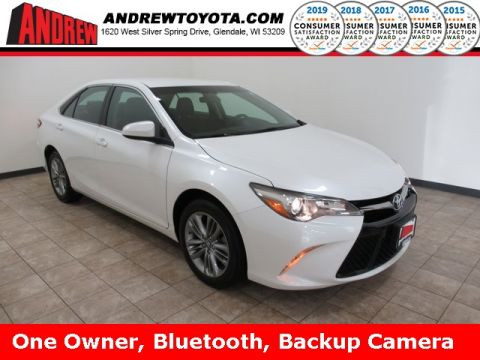 Stock #: TP1245 BLIZZARD PEARL 2017 Toyota Camry SE 4D Sedan in Milwaukee, Wisconsin 53209